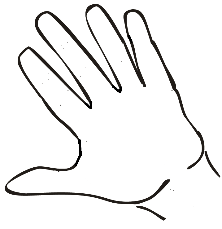 Open hand drawing clipart best for Easy hand drawings