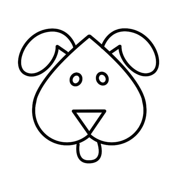 How To Draw Easy Cute Cartoon Dog Ask In Mask Clipart Best