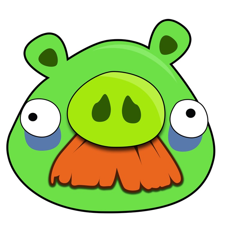 angry bird pig template - pig face template clipart best