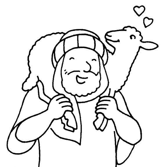 Jesus And Lost Sheep Coloring Page
