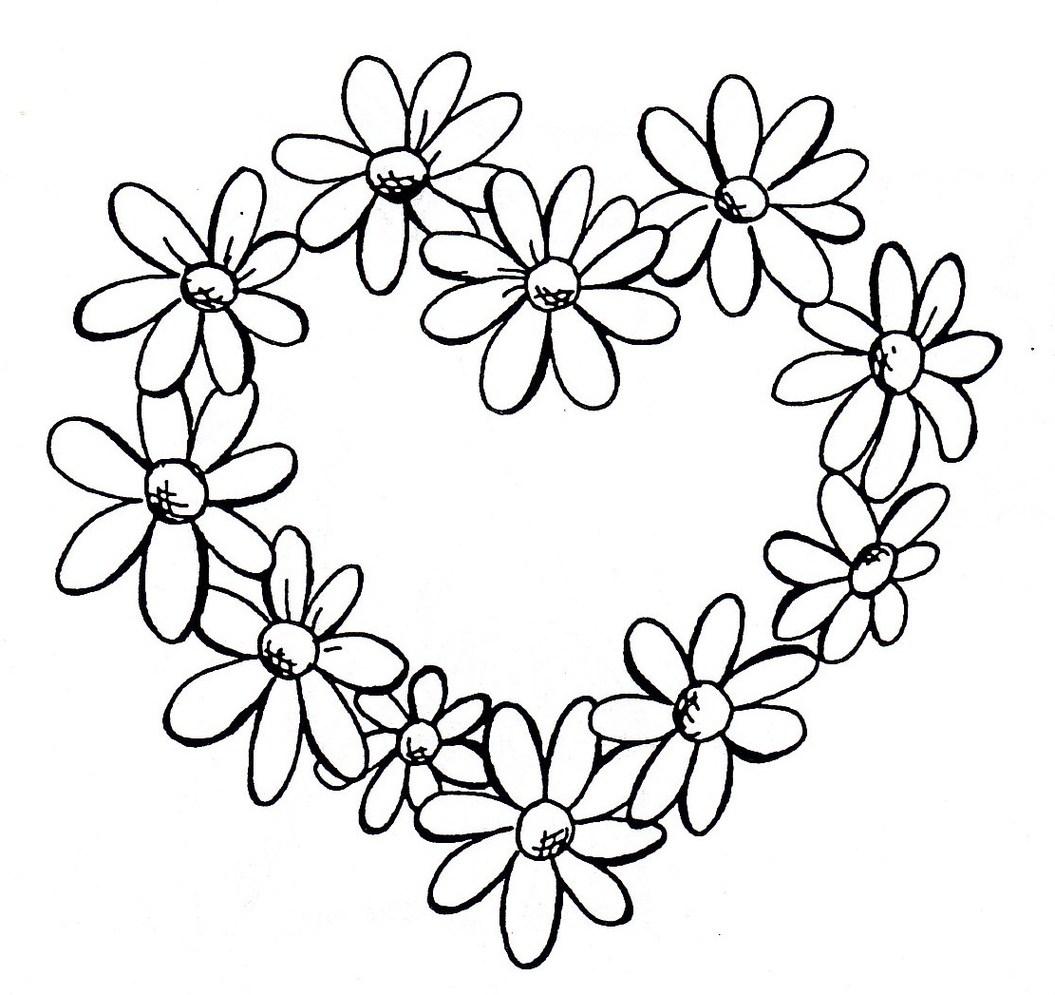 Line Art Flower Design Clipart : Daisy line drawing clipart best