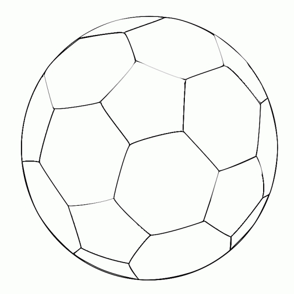 Pictures to color of soccer number 8 clipart best for Soccer balls coloring pages