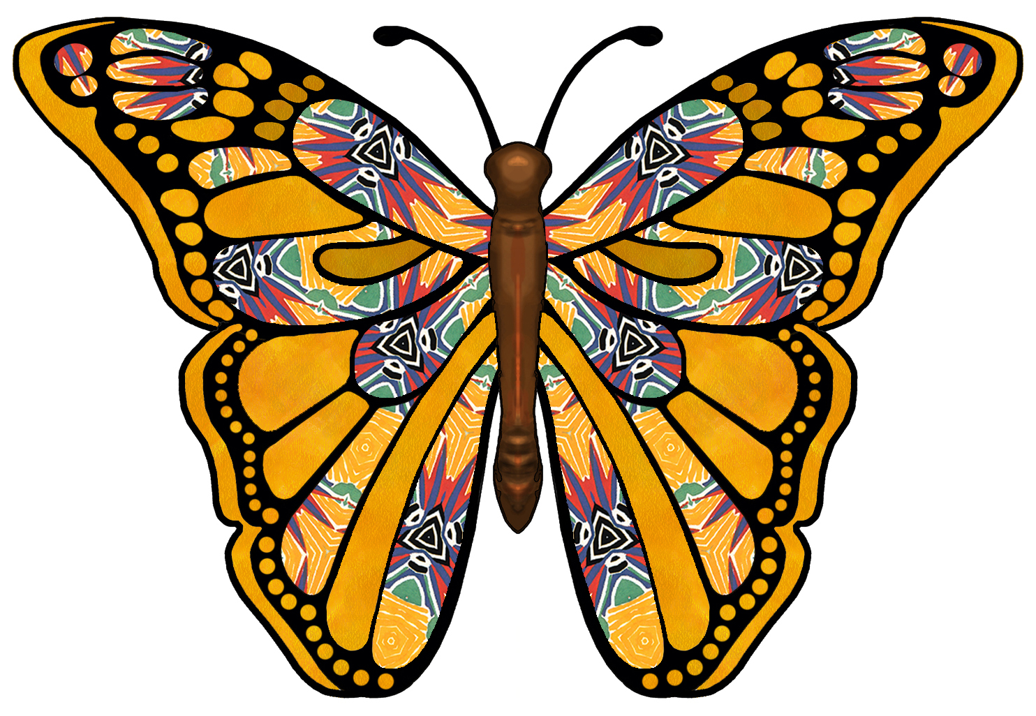 Butterfly Wing Patterns - ClipArt Best