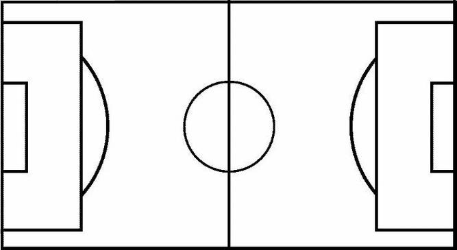 Blank Football Pitch Outline Clipart - Free to use Clip Art Resource