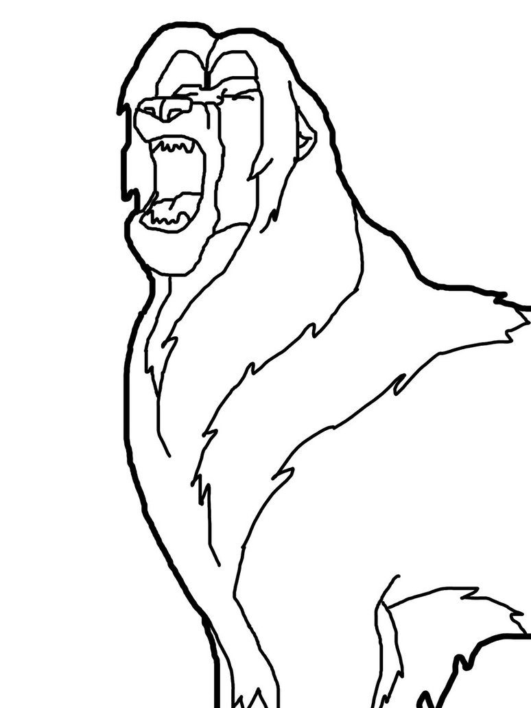 Lions Roaring Drawing Easy Lion Roaring Drawing