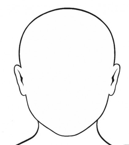 Girl blank head colouring templates clipart best for Blank face coloring page
