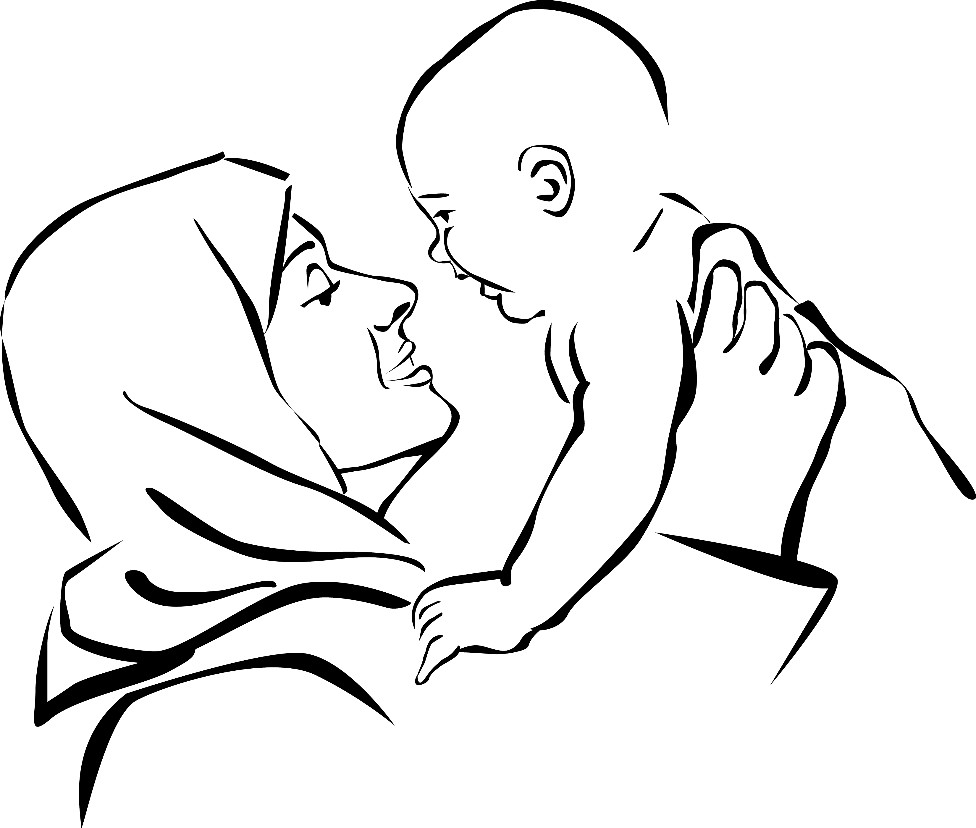 Clipart Mother And Child - All About Clipart