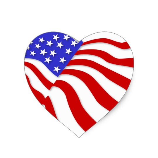 Heart Shaped American Flag - ClipArt Best