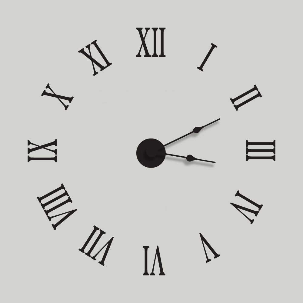 Clock wall decals