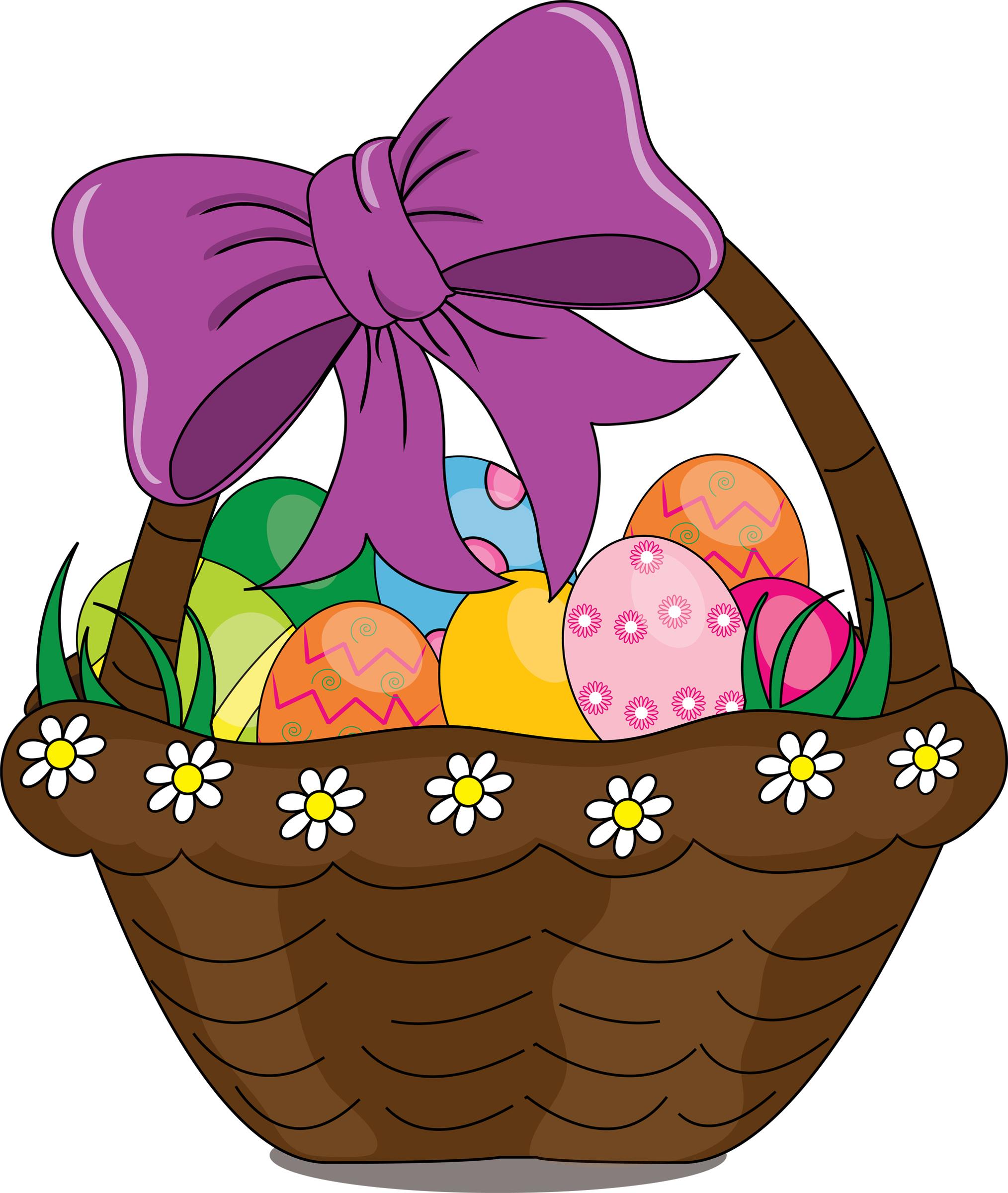 Easter basket clip art free clipart best for Clipart basket