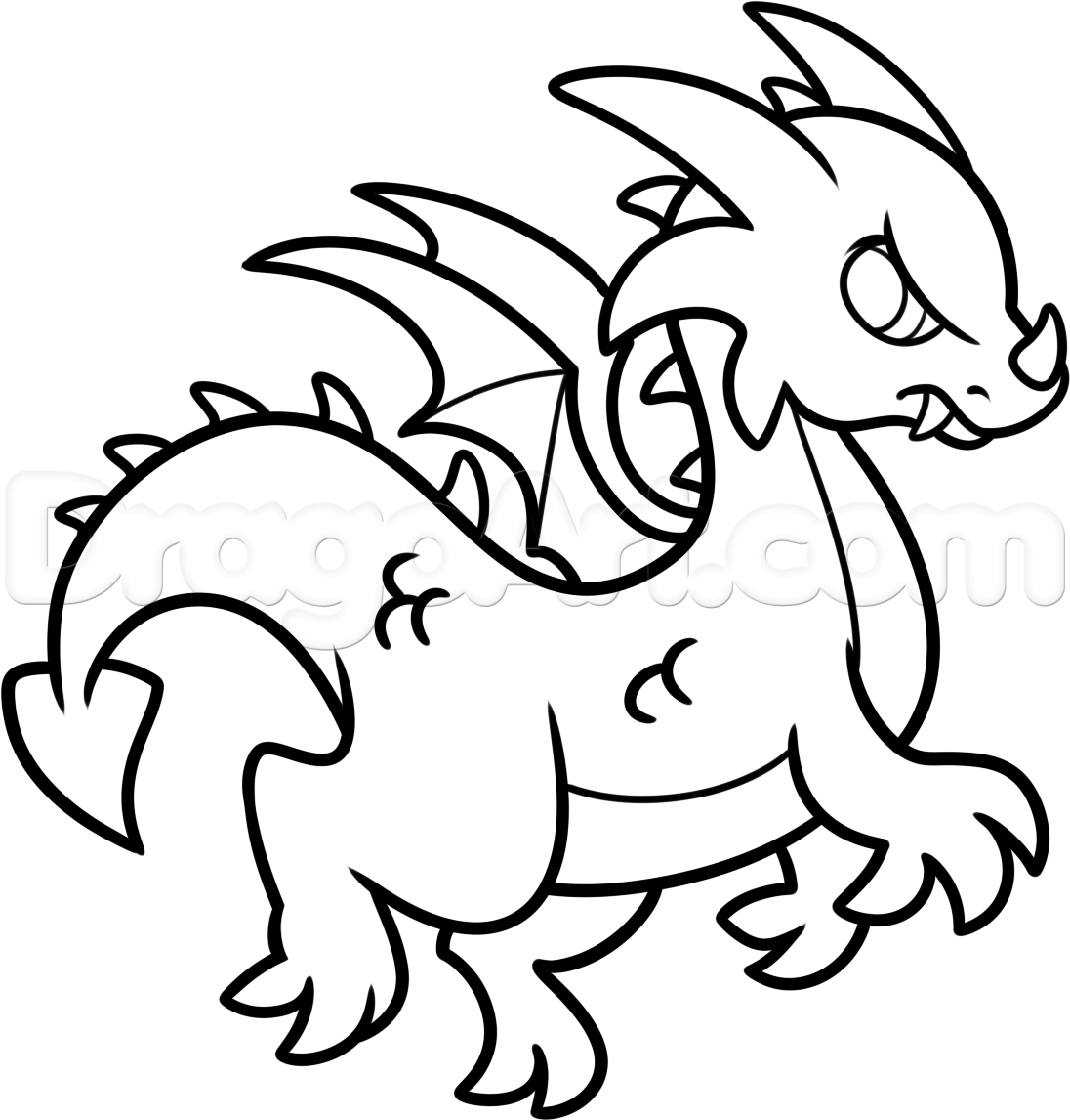 Dragons easy drawings clipart best for Best and easy drawings