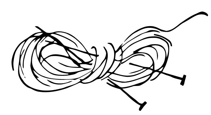 Knitting Needles And Yarn Clipart : Ephemeraphilia free vector art knitting needles and yarn