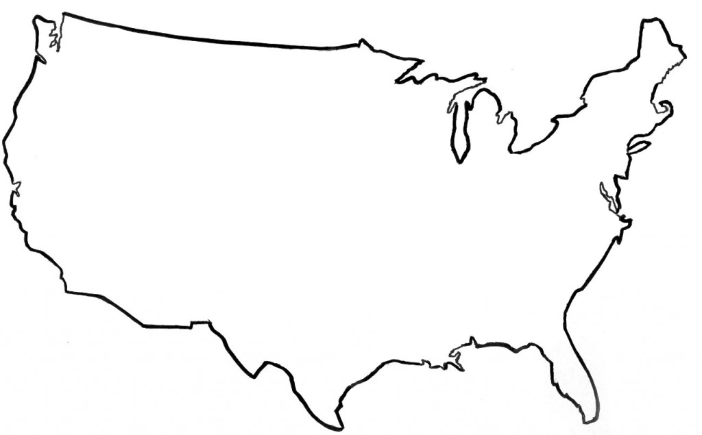 Line Drawing United States : United states vector outline clipart best