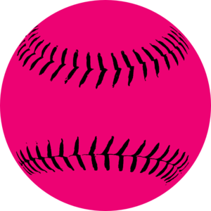 Pink Softball clip art - vector clip art online, royalty free ...