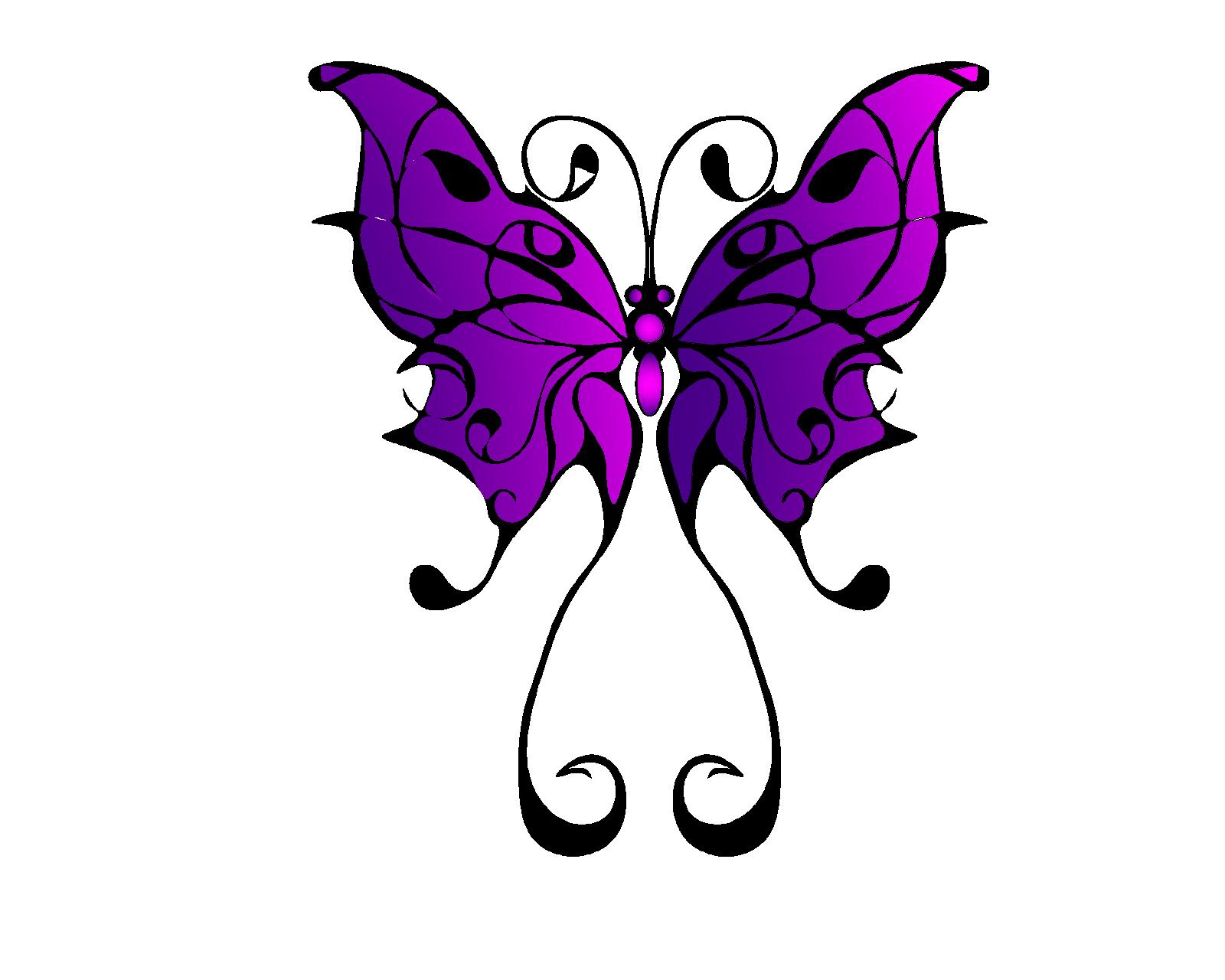 Butterfly Flower Tattoo Designs Free