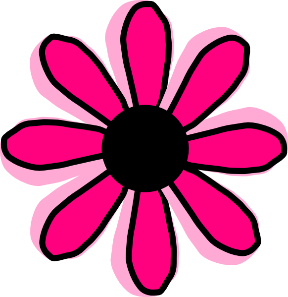 Pink cartoon flowers clipart best for Drawings of cartoon flowers