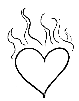 Flaming Heart Sketch ( - ClipArt Best - ClipArt Best