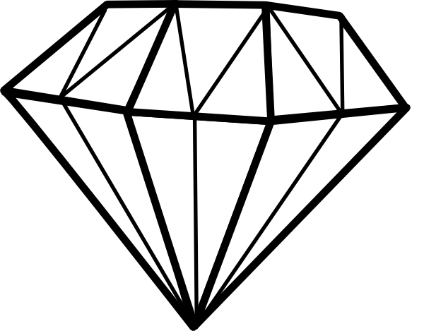 Diamond Outline Vector - ClipArt Best