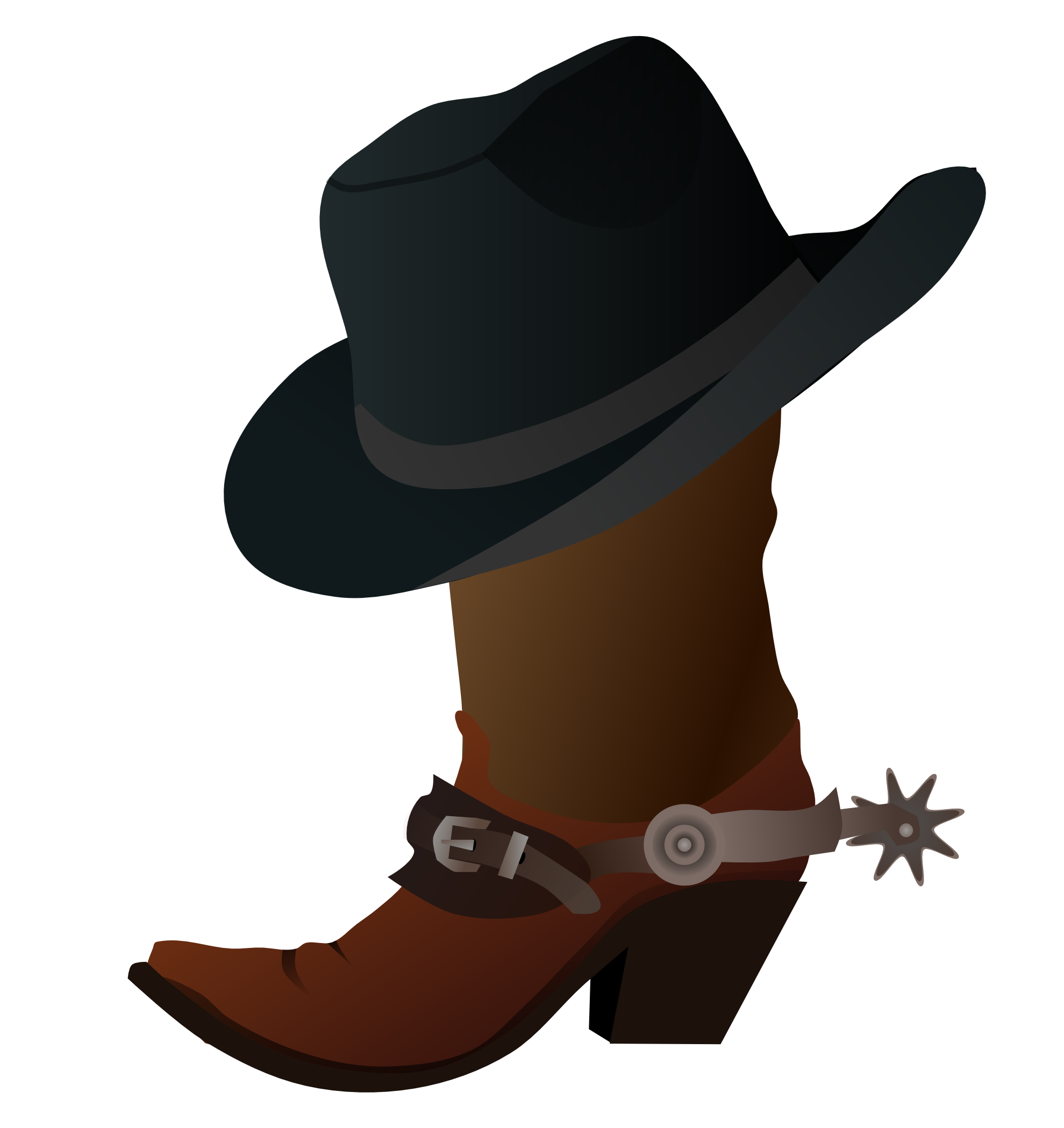 Coloring Cowboy Boot - ClipArt Best