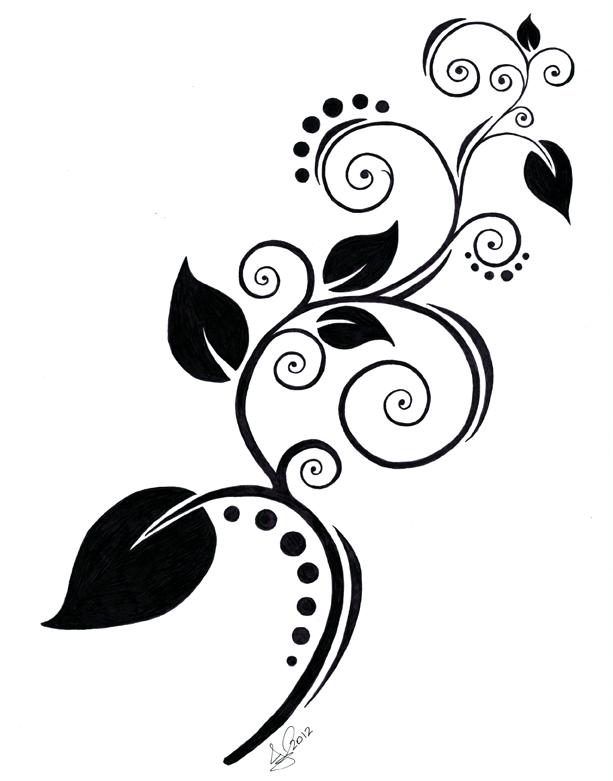 Cool swirl designs black and white