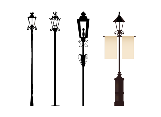 Street Light Vector Clipart Best