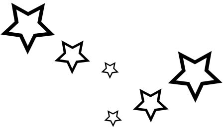 Car sticker design vector free - Hollow Star Pack Sticker X 6 Girl Shooting Stars Car Graphics Ebay