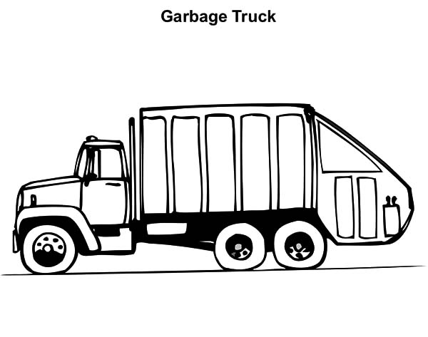 free garbarge truck coloring pages - photo#27