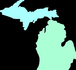 Michigan State Map - ClipArt Best