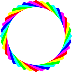 Hexagon Rainbow Circle clip art - vector clip art online, royalty ...