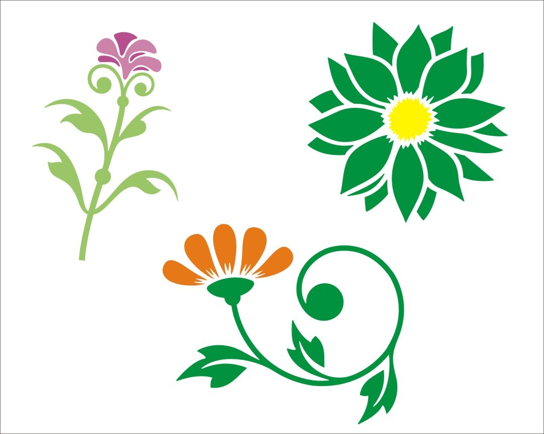 Flower Stencils Free - ClipArt Best