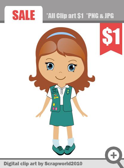 clip art free girl scouts - photo #50