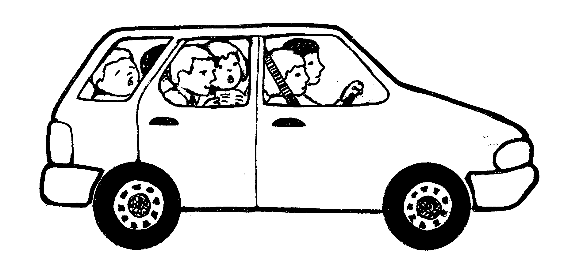 free clipart black and white car - photo #19