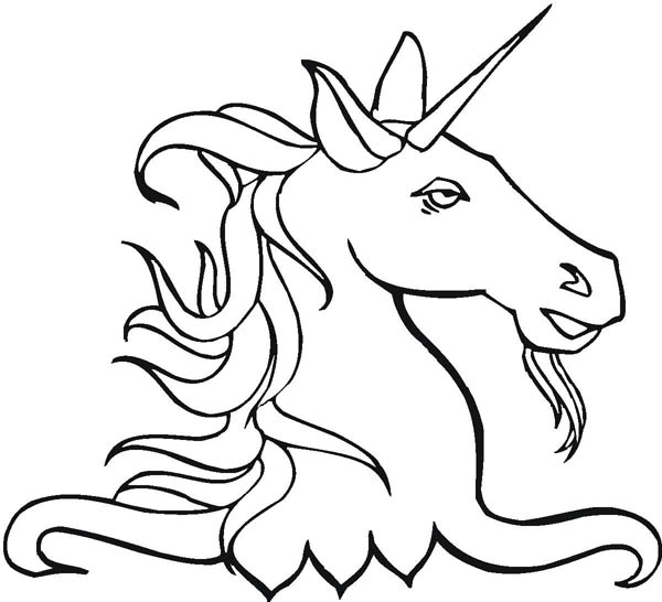 Unicorn Head Coloring Pages - ClipArt Best