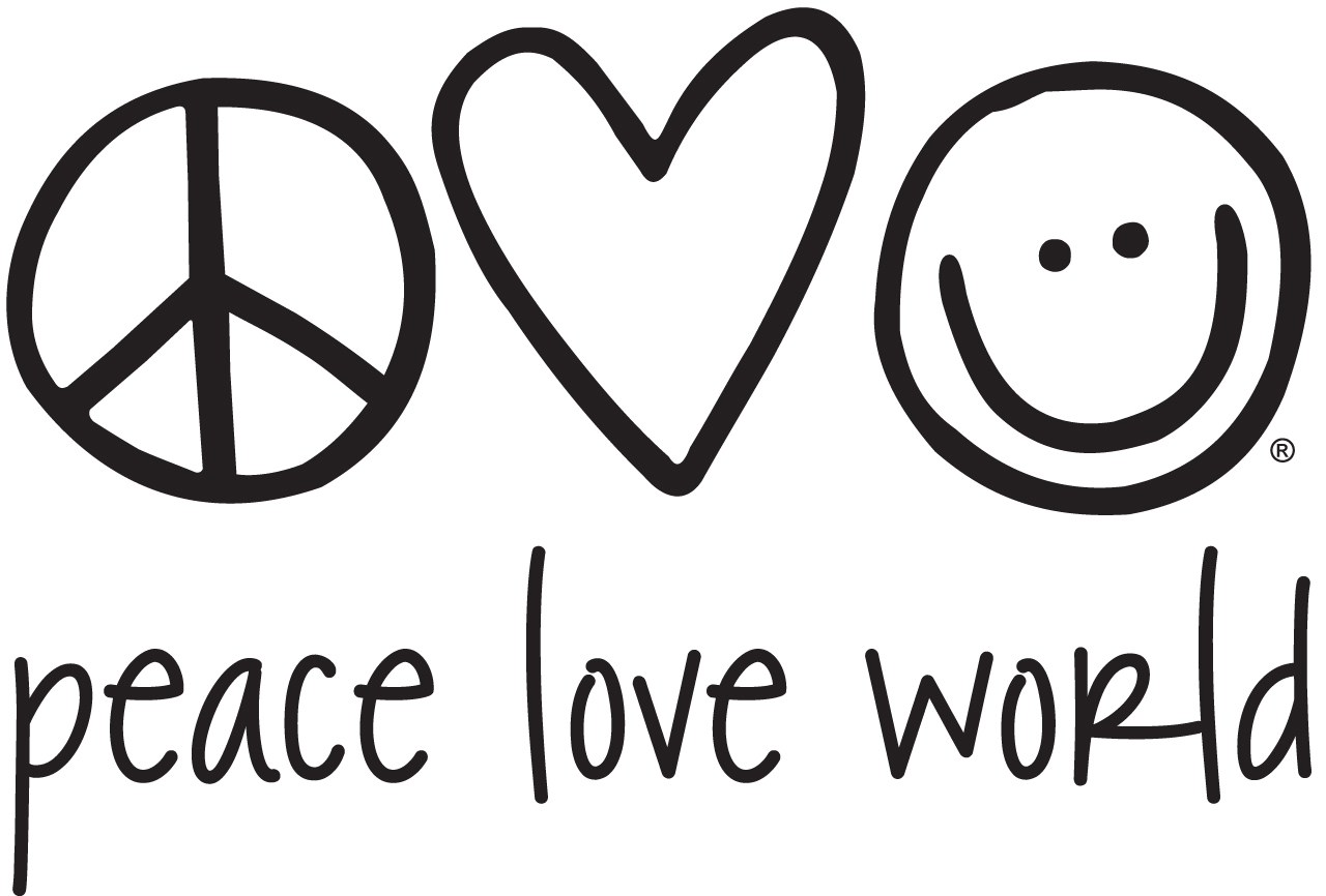 Love and peace clipart best for Peace love happiness coloring pages