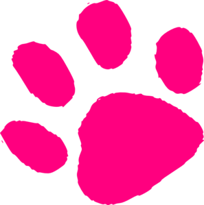 Pink Paw Print clip art - vector clip art online, royalty free ...