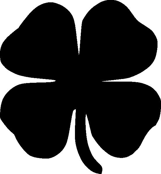 Four Leaf Clover Black clip art - vector clip art online, royalty ...