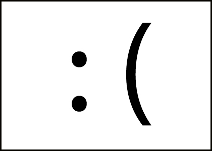 Sad Emoticon Black White - ClipArt Best