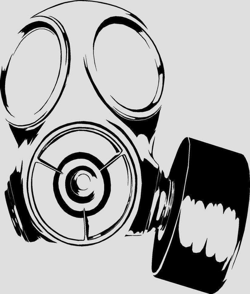 Cool Gas Masks Skulls Skull Sketch by · Gas Mask