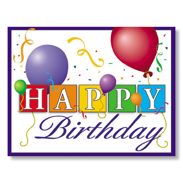 happy birthday balloons employee birthday cards  clipart