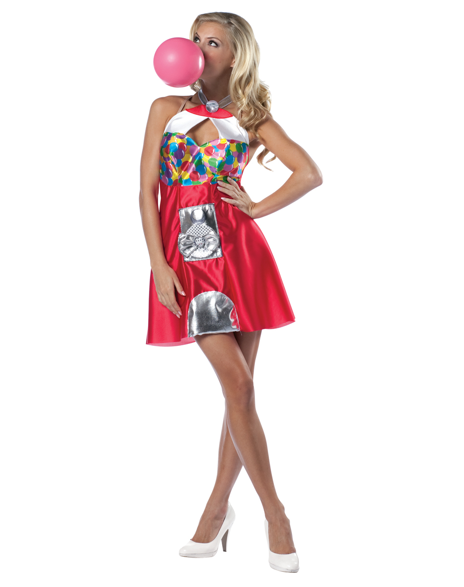 Bubble gum machine dress adult womens costume clipart best clipart