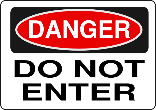 Do Not Enter Signs Free - ClipArt Best