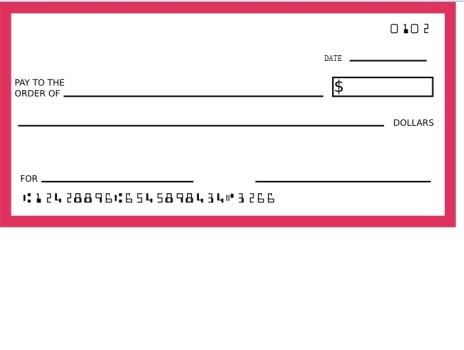 Blank Check Clipart Best