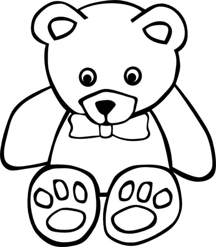 Teddy Bear Outline AZ Coloring Pages ClipArt Best
