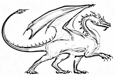 how to draw a scary dragon