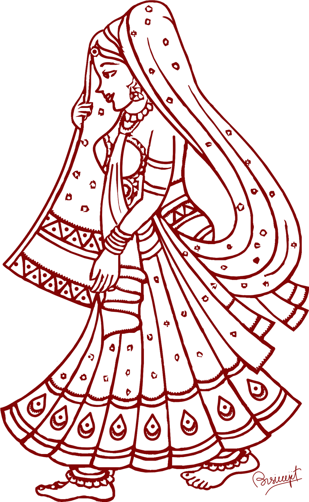Line Art Card Design : Indian wedding symbols clip art clipart best