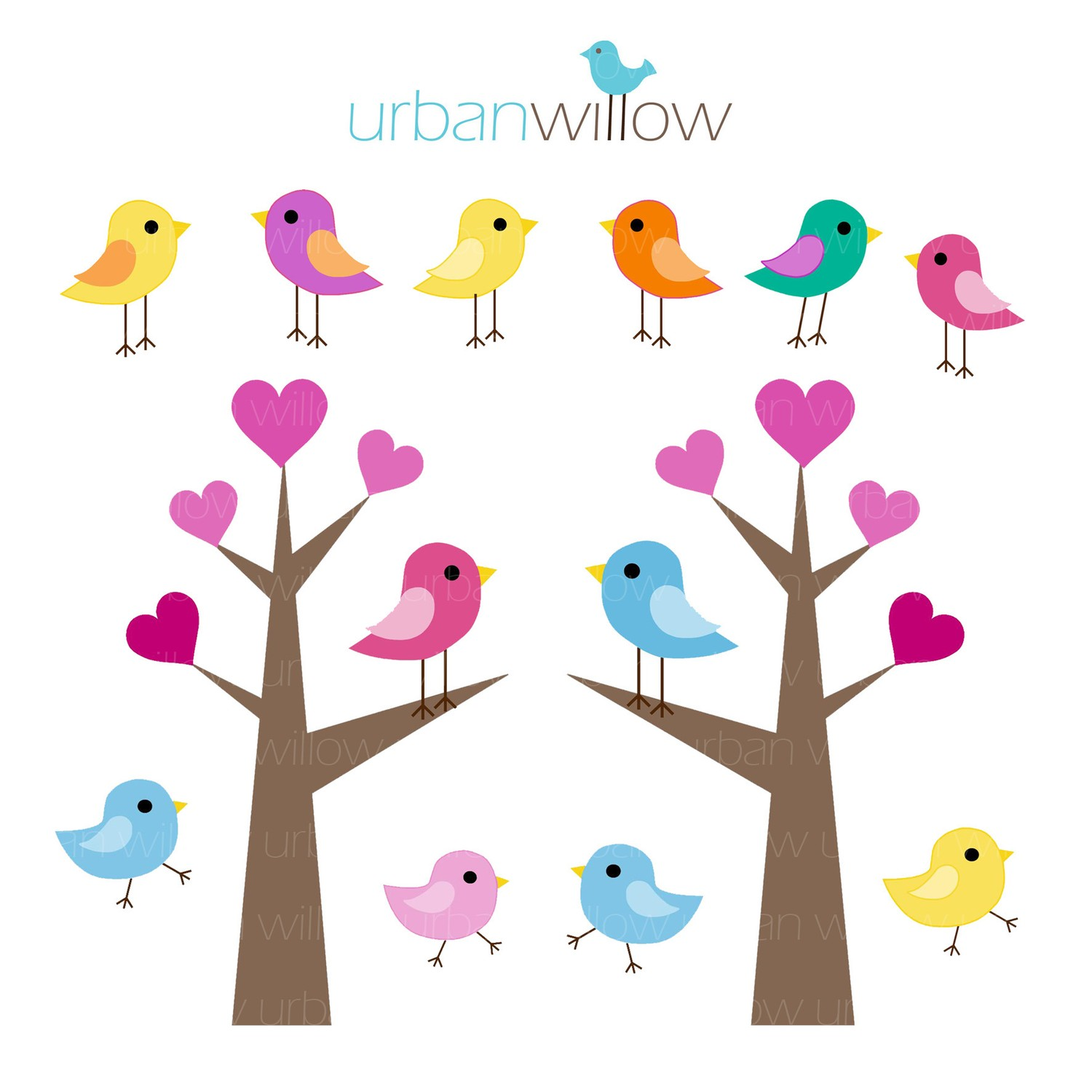 love birds in tree clipart free cliparts that you can download to you ...