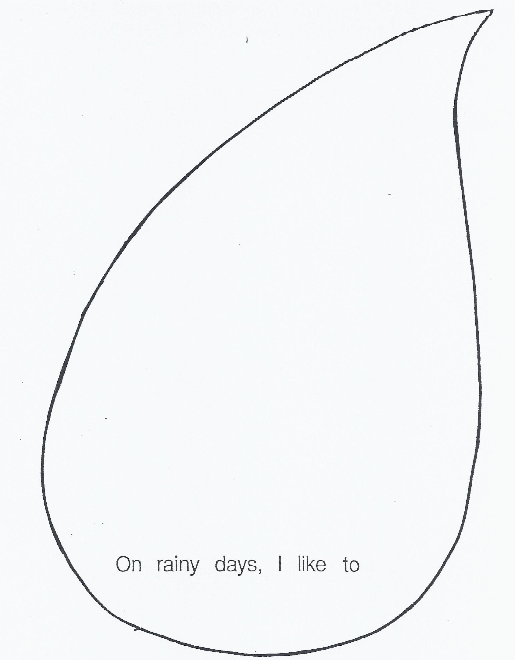 Printable Rain Drops ClipArt