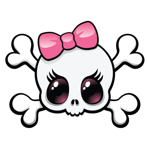 Skull Girly - ClipArt Best