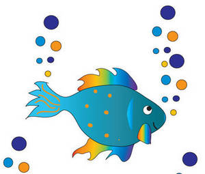 Clip Art Swimming With Fish - ClipArt Best