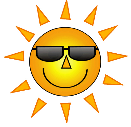 Happy Sun With Sunglasses | Clipart Panda - Free Clipart Images